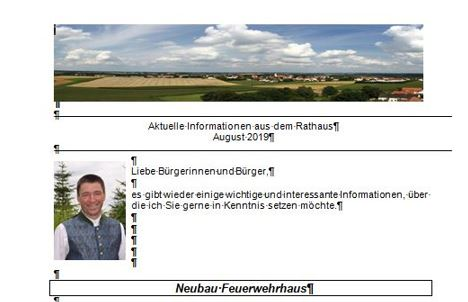 Gemeinderundbrief August 2019
